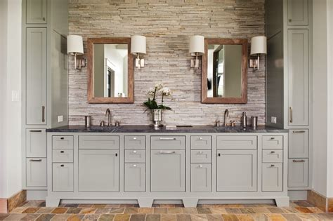 Decorations For Above Kitchen Cabinets by Grey Bathroom Vanity Bathroom Transitional With Bathroom