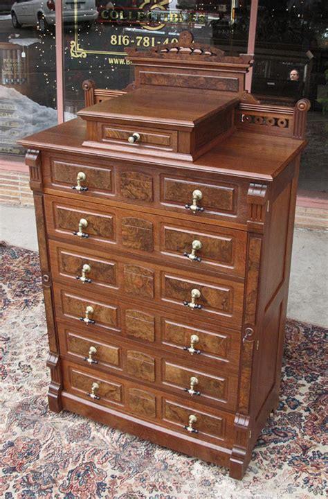 Side Dresser by Antique Walnut Eastlake Lock Side Dresser