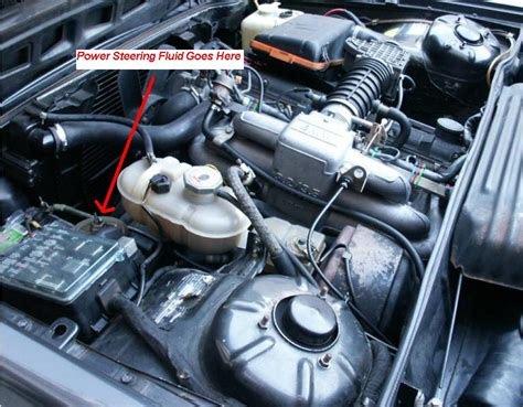 where is the power steering fluid fill point on a 1982 bmw