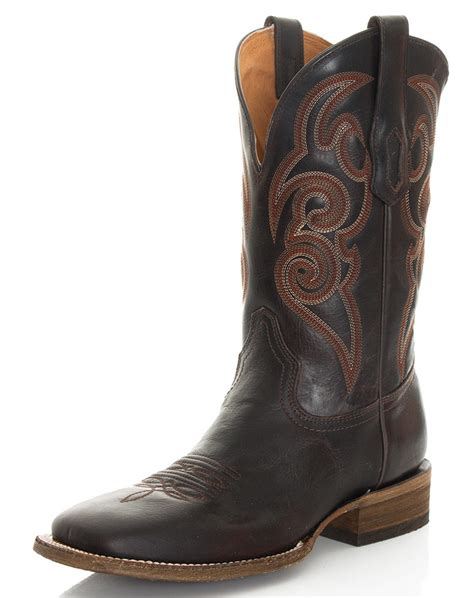 mens corral square toe boots corral s 13 quot square toe boots brown