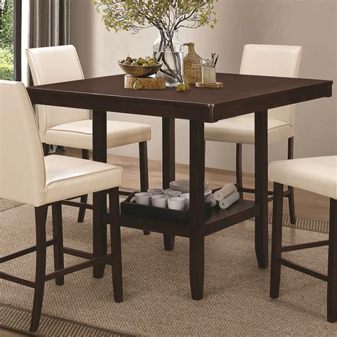 coaster counter height table and chairs coaster fattori counter height table set with leatherette