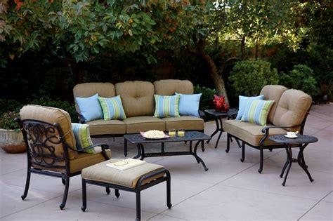 patio furniture seating set cast aluminum 7pc santa