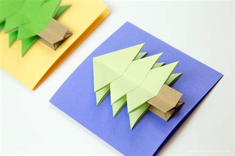 12 Inch Origami Paper - easy origami tree tutorial paper kawaii
