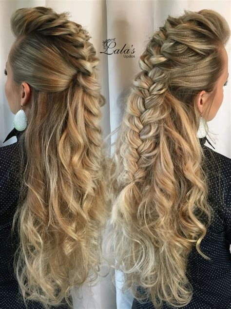 cute hairstyles using braids love this mohawk braid as it descends down her back a