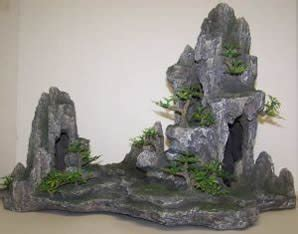 Large Aquarium Decorations by Osi Marine Lab Mountain With Trees Large Aquarium
