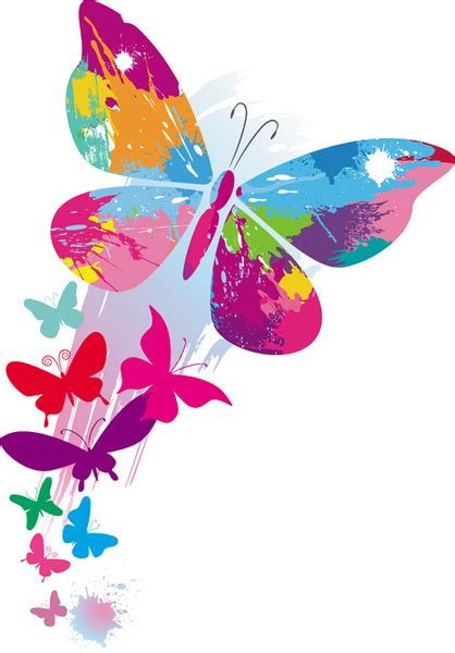 design background butterfly set of vector colorful butterflies background free vector