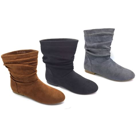 s flat boots fashion s flat heel ankle boots winter shoes