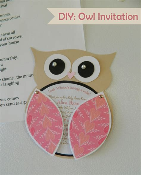 my owl barn diy owl invitation