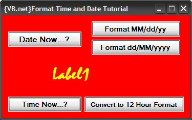 format date now vb net visual basic tutorials vb net may 2010