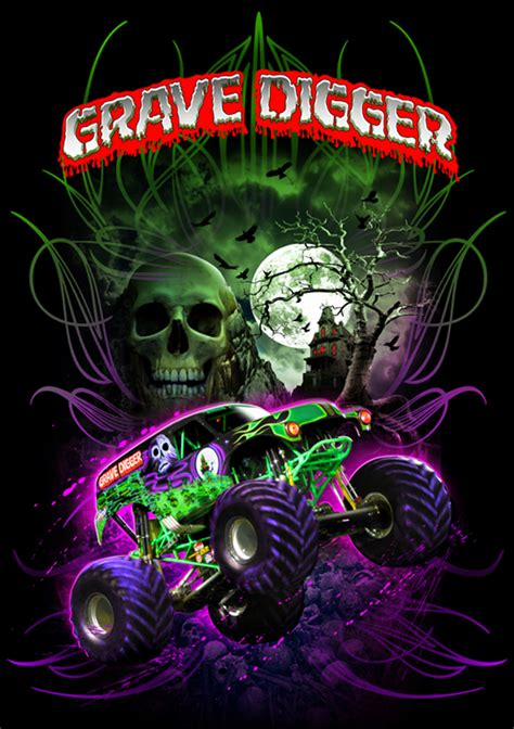 grave digger monster truck wallpaper grave digger on behance
