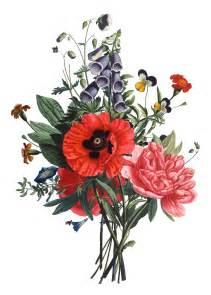 Vintage Flower Drawing - bouquets google flowers drawing flower bouquets google