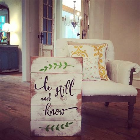 Small Woods Home Decor Wood Signboard Be Still And Smallwoods Canvas