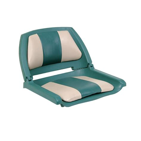 green folding boat seat action padded copolymer 2 color folding boat seat