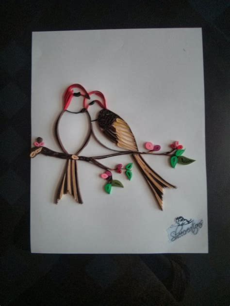 paper quilling greeting card tutorial img 20140219 181508 quilling pinterest love birds