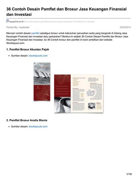 desain brosur bank ayuprint co id 36 contoh desain pamflet dan brosur jasa