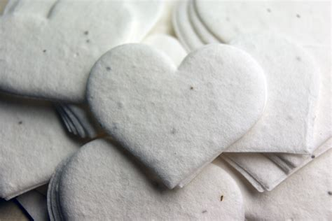 Handmade Paper Hearts - handmade seeded paper hearts 2 5in 24 pieces