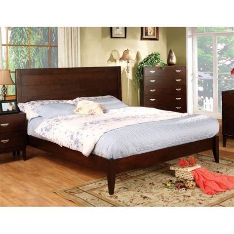 shop furniture of america bellefonte brown cherry queen sleigh bed furniture of america brooklyn queen panel bed in brown