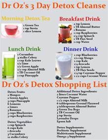home detox cleanse dr oz s 3 day detox cleanse drink recipes printable