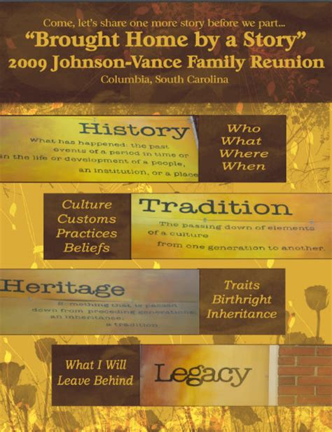 family reunion book template the legacy reunion ideas
