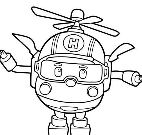 机器人简笔画图片 机器人小飞机 人物简笔画 5068儿童网 Station Coloring Page