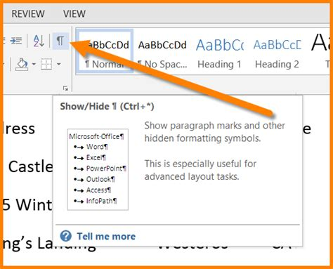 word hide layout characters microsoft word replace multiple spaces with a tab character