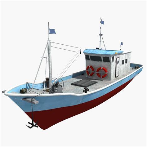 cartoon boat 3d model 3d boat ship fish 1146356 turbosquid