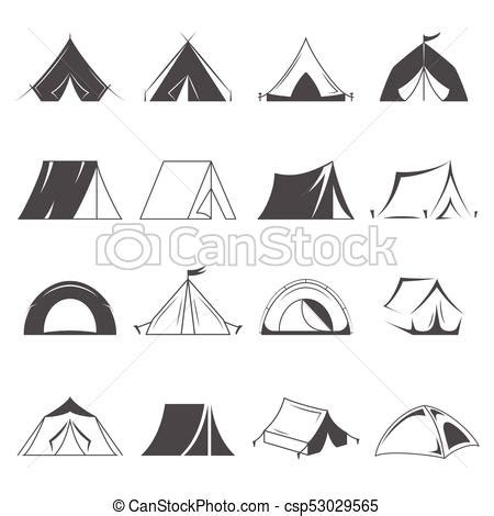 tent card vector template c tents set isolated on white background logo template