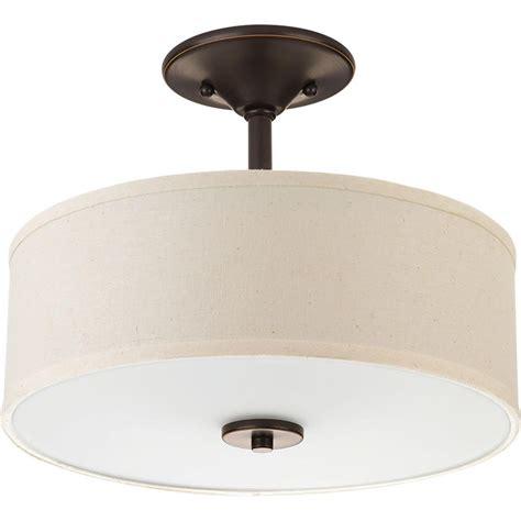 bronze semi flush mount light progress lighting inspire collection 2 light antique