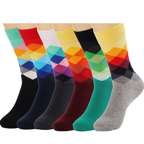 mens dress socks colorful cheap 6 packs color dress socks colorful