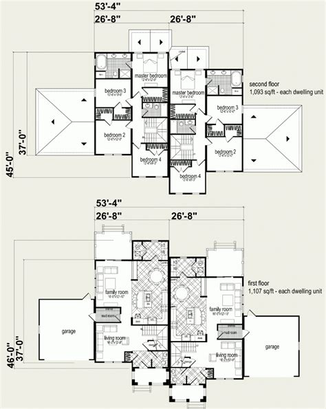 Floor Plans For Multi Family Homes by Modular Homes Multi Family Wilson Duplex