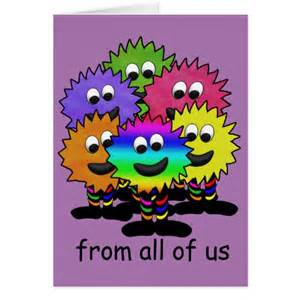 birthday card for from from all of us birthday card zazzle