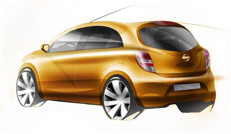 nissan global compact car  sketches revealed