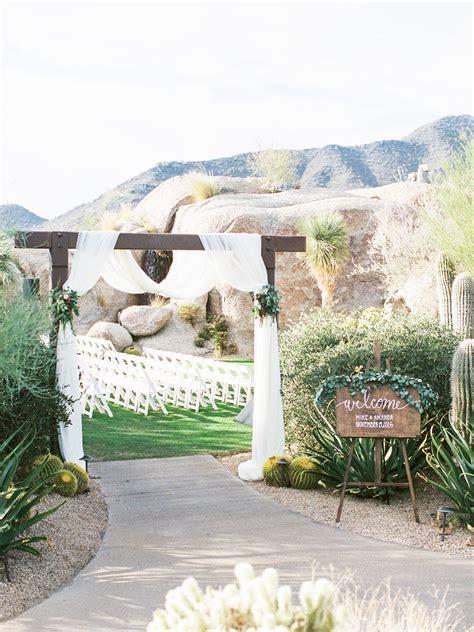 Wedding Ceremony Entrance by Desert Wedding Ceremony Entrance Elizabeth Designs