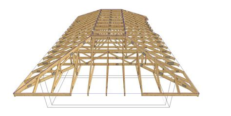 Complex Hip Roof Complex 11 Timber Trusses Truss Frame Construction