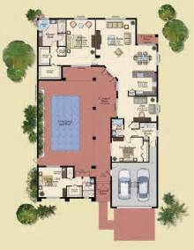 courtyard pool house plans discover your here plan modern contemporary