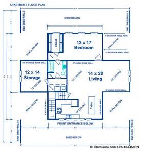 barn with apartment floor plans barn plans exle