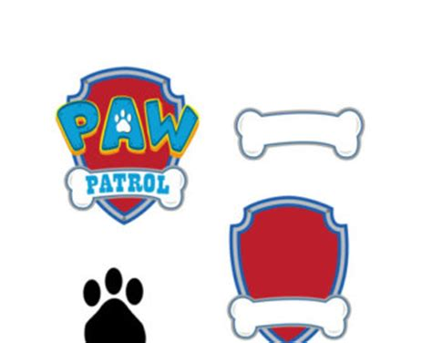 Dog Paw Patrol Logo Clipart Free Bbcpersian7 Collections Paw Patrol Logo Template