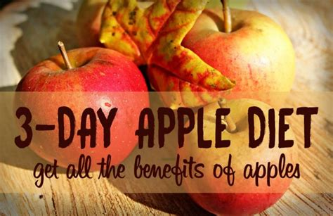 3 fruit a day diet 3 apple a day diet results