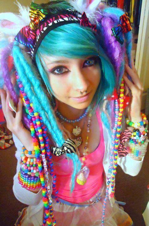 hairstyle ideas for raves edc edm colorful hairstyle edmgirls rave stylez
