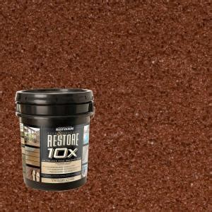 restore 10x colors rust oleum restore 4 gal navajo deck and concrete 10x