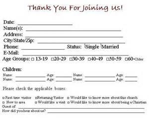 church visitor card template word modal title