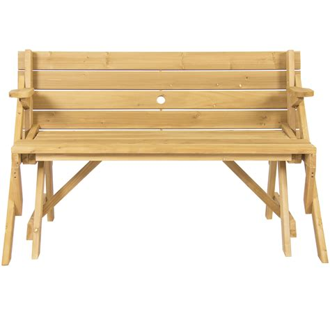 2 in 1 bench and picnic table bcp patio 2 in 1 outdoor interchangeable picnic table garden bench wood ebay