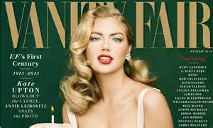 Vanity Fairs Issue Cover by Kate Upton In And Lipstick For Vanity Fair S