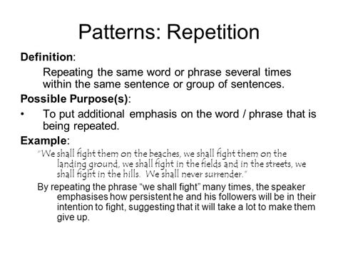 sentence pattern that repeats sentence structure patterns ppt download