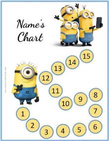 behavior sticker chart template behavior charts with the minions