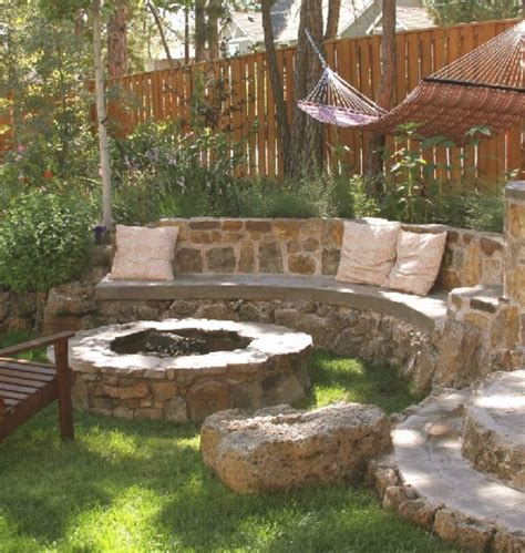 fancy outdoor rustic stone barbecue pit