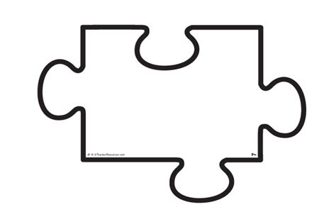 autism puzzle piece cut out clipart best