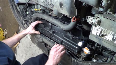 replace hyundai elantra radiator fan youtube