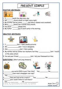 simple present tense worksheets davezan