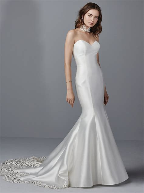 Satin Wedding Dresses by Simple Satin Wedding Dresses Maggie Maggie